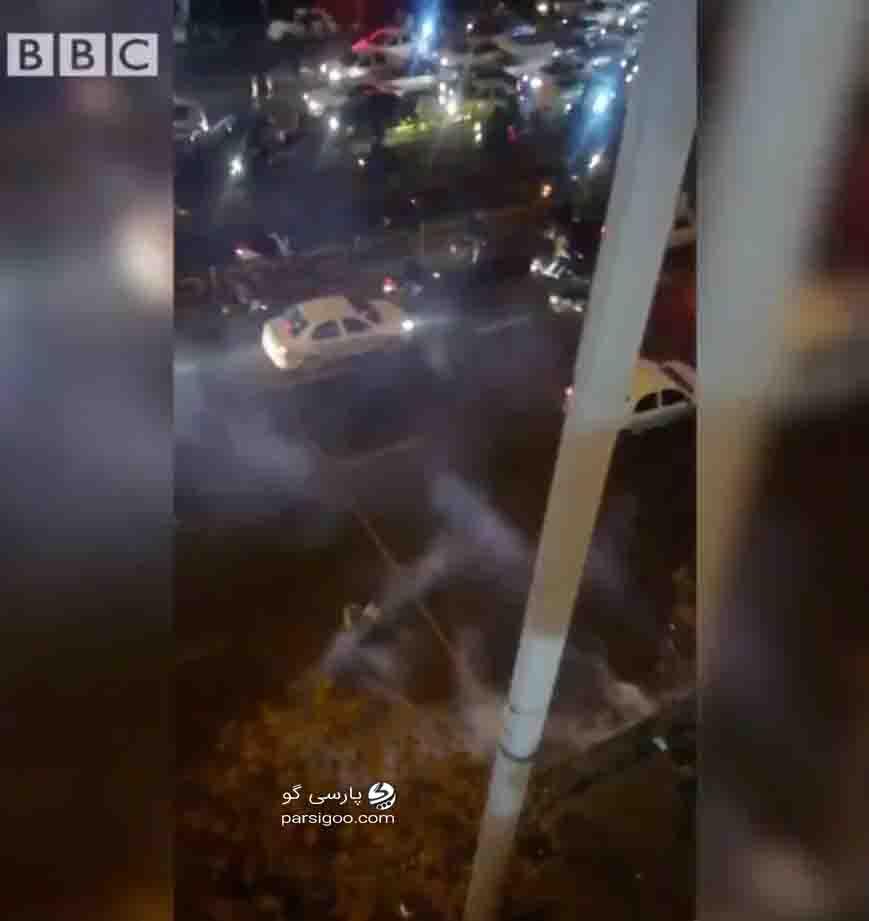 گزارش بی بی سی فارسی از تجمع اعتراضی عده ای در تهران