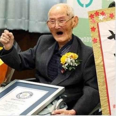 جی تیتسو واتانابی پیر ترین مرد جهان در کتاب گینس