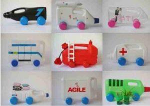 ساخت اسباب بازی با قوطی شوینده خالی