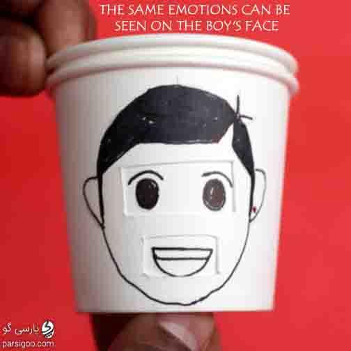 نقاشی پسرانه برای بازی تشخیص حالت چهره