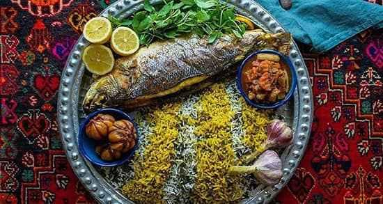 سبزی پلو با ماهی ویژه شب عید