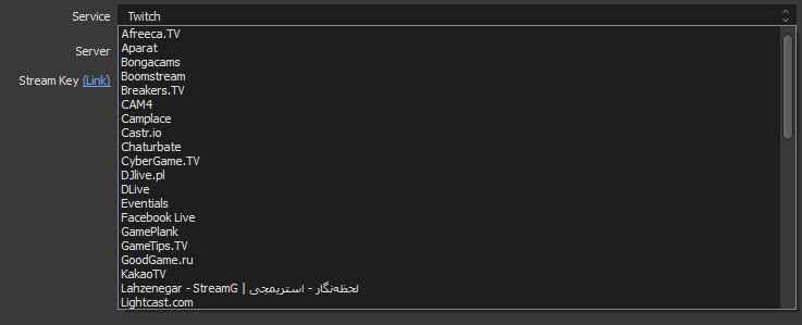 تنظیمات دستی برنامه OBS برای استریم کردن تصویر دوم.