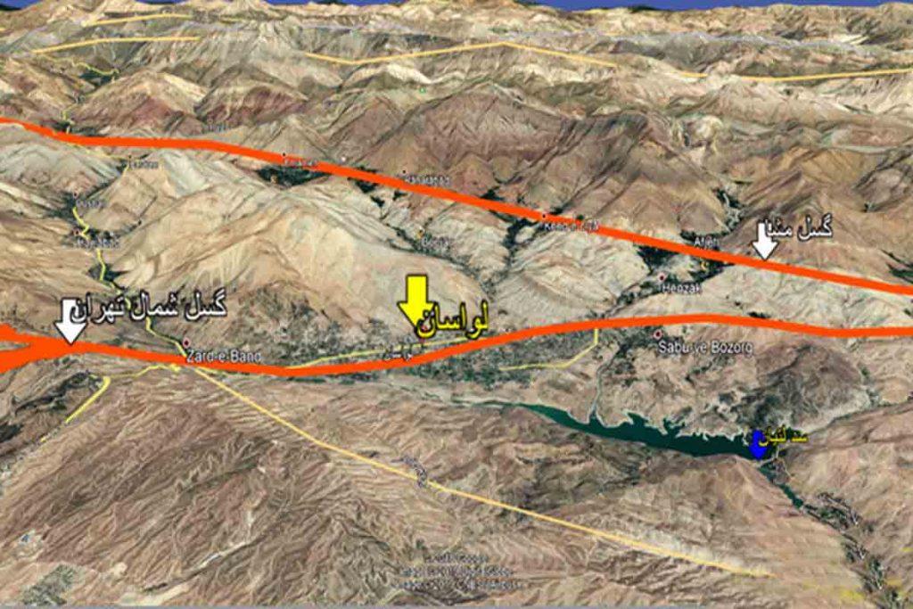زلزله تهران و گشل شمال تهران