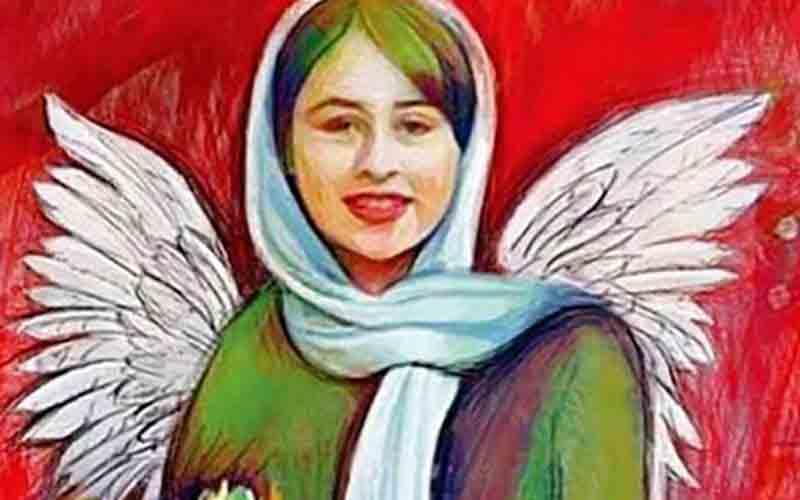 نقاشی از رومینا اشرفی 14 ساله که با جملات عاشقانه پسر 35 ساله فریب خورد و از خانه فرار کرد
