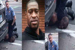 جرج فلوید قتل سیاه پوست آمریکایی توسط پلیس آمریکا لحظه خفه شدن سیاهپوست آمریکایی