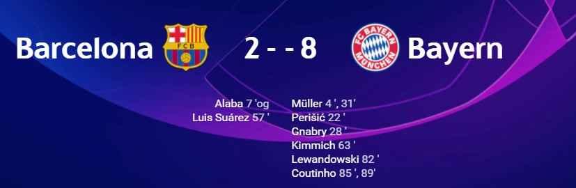 بایرن 8 بارسلونا 2