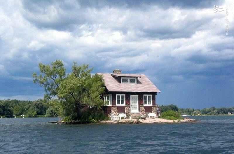 خانه رویایی و زیبا وسط رودخانه پر آب