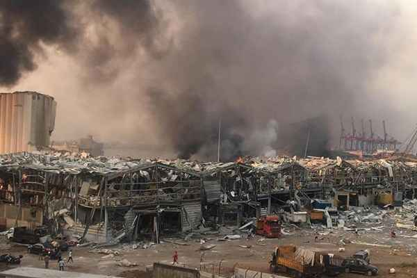 خرابی ها پس از انفجار مهیب بیروت