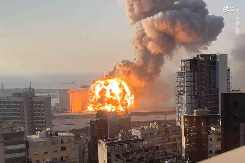 لحظه انفجار بیروت با کیفیت بالا