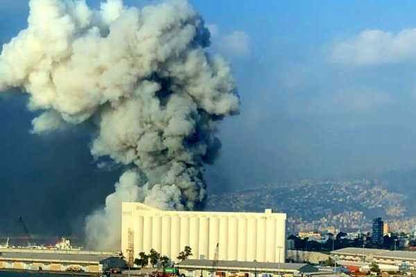 لحظه انفجار مهیب در بیروت