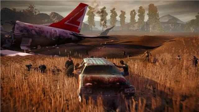 ماشین سواری در یک محیط بزرگ در بازی State of Decay