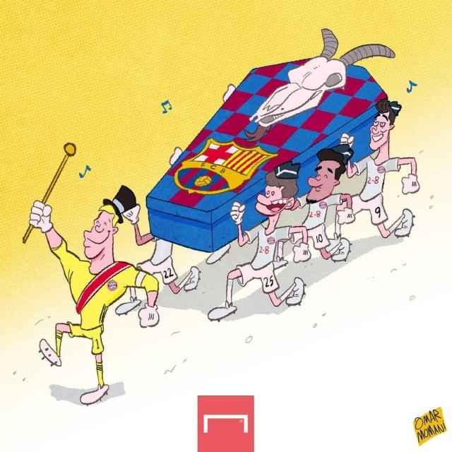 کاریکاتور بایرن 8 بارسا 2