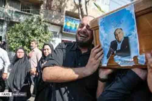 تشییع پیکر مرحوم حسن ترکمان در شیراز