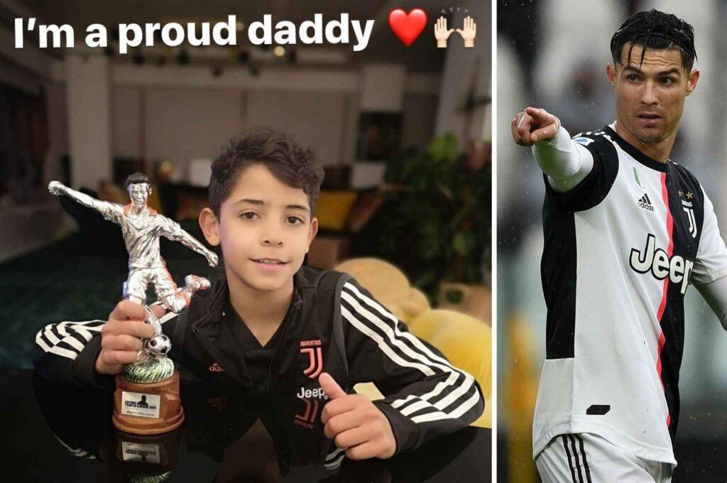 اولین جام رسمی پسر کریستیانو رونالدو