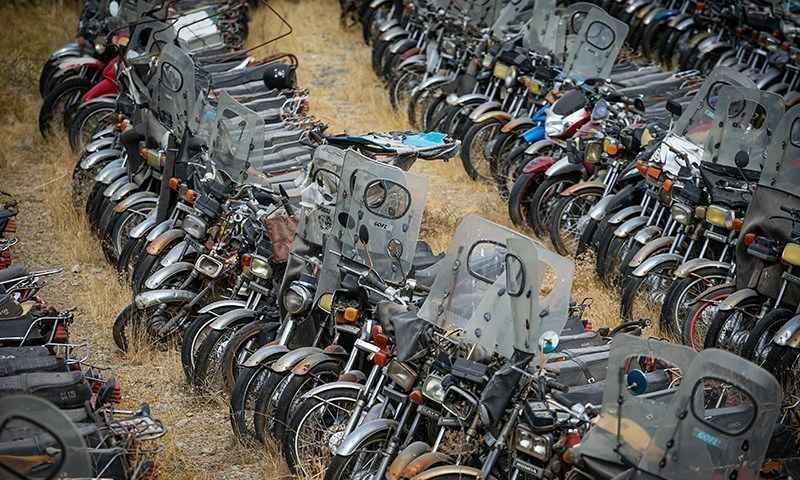 موتورسیکلت توقیفی