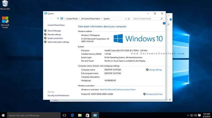 ویندوز 64 بیت ویندوز 10