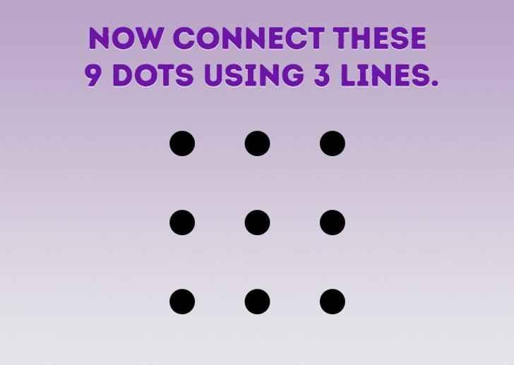 معمای اتصال نه نقطه با سه خط