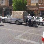 گشت زنی موتورسواران پلیس راهنمایی و رانندگی استان یزد