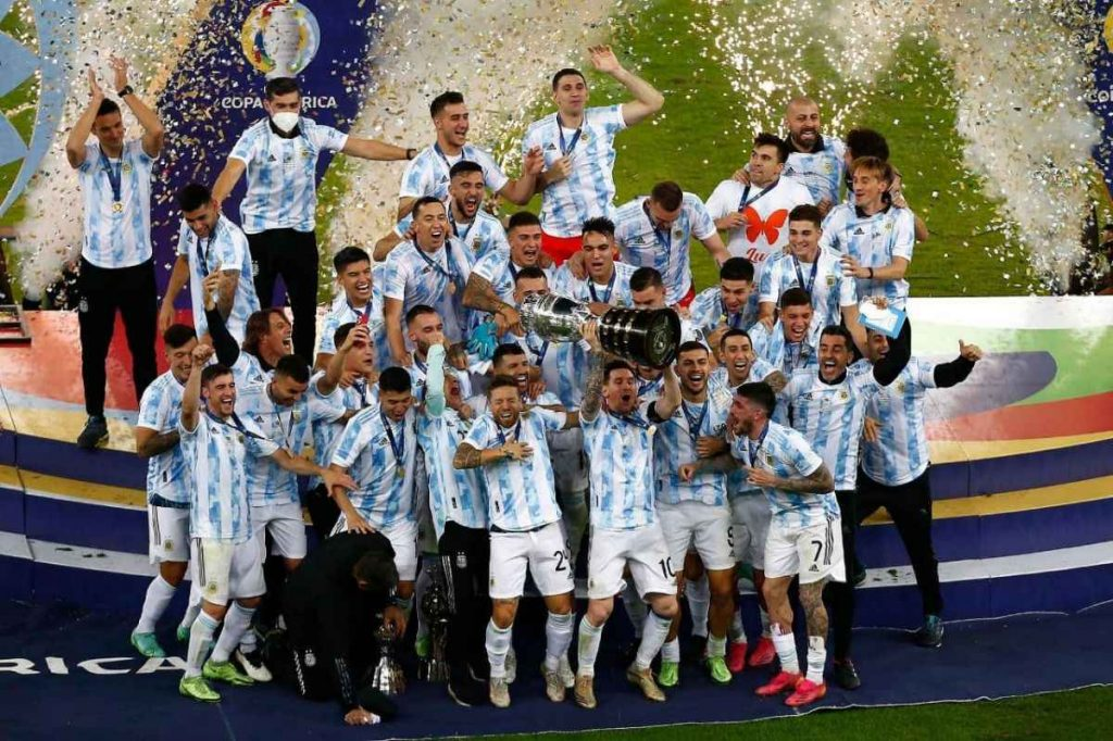 آرژانتین قهرمان کوپا آمریکا جشن قهرمانی آرژانتین جشن قهرمانی لیونل مسی