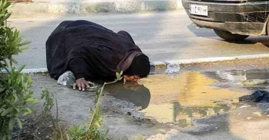 عکس دستکاری شده آب خوردن یک هموطن خوزستانی
