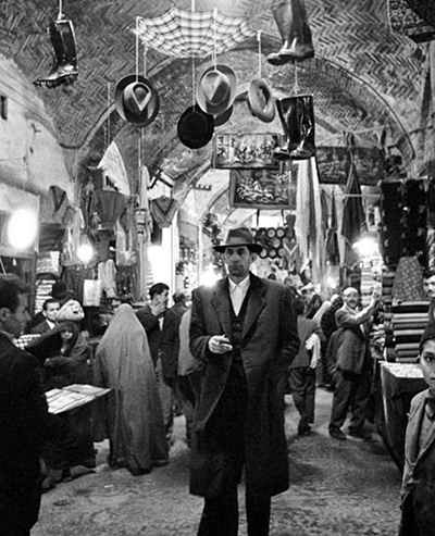 عکس قدیمی بازار تهران مربوط به سال 1337_1338