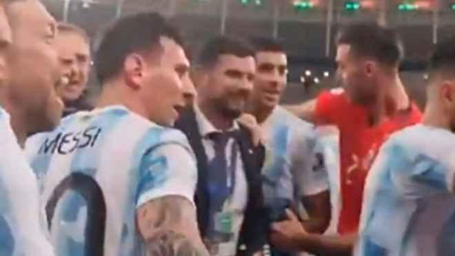لیونل مسی جلوی تمسخر تیم ملی برزیل را گرفت