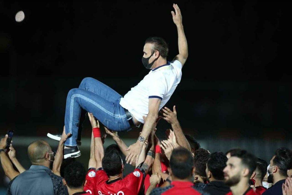 یحیی گل محمدی در جشن قهرمانی پنجمین قهرمانی پرسپولیس