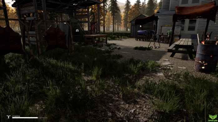 نمایی از پناهگاه در بازی mist survival